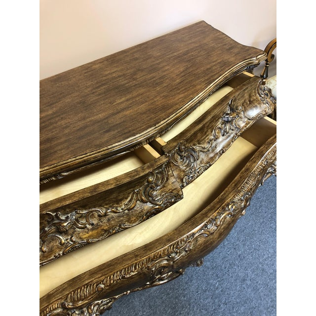 2010s Italian Carved Giltwood Bombay Chest Commode For Sale - Image 5 of 13