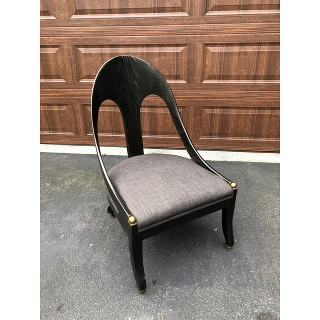 Mid Century Maitland Smith Style Accent Chair For Sale - Image 9 of 9