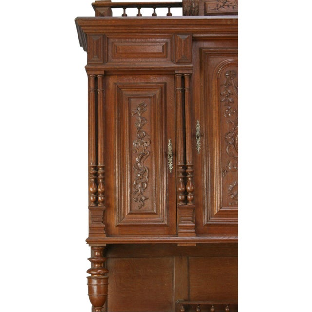 Antique French Renaissance Carved Buffet Server For Sale - Image 5 of 8