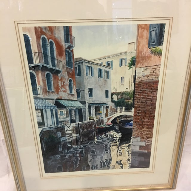 "Boho Chic ""Venice Scene"" Artist Proof Signed Lithograph For Sale - Image 3 of 10"