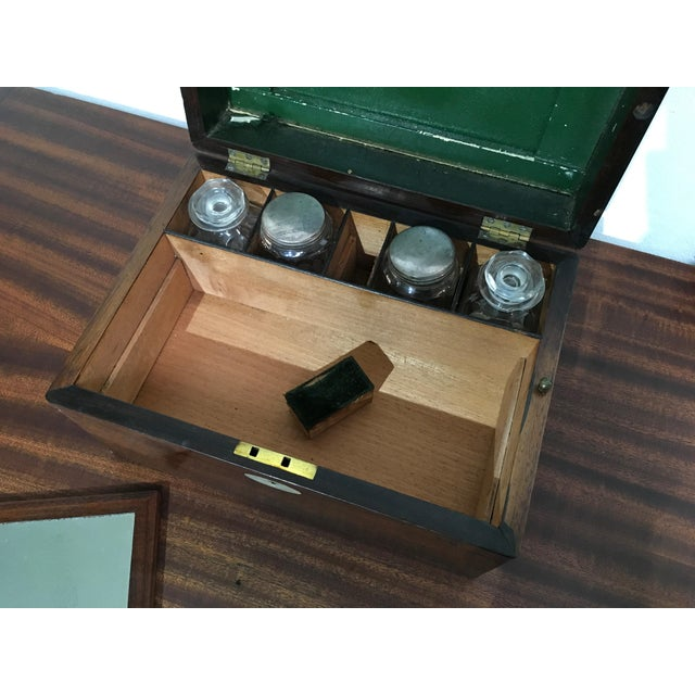 Brown Victorian Gentleman's Traveling Dressing Table Set For Sale - Image 8 of 10