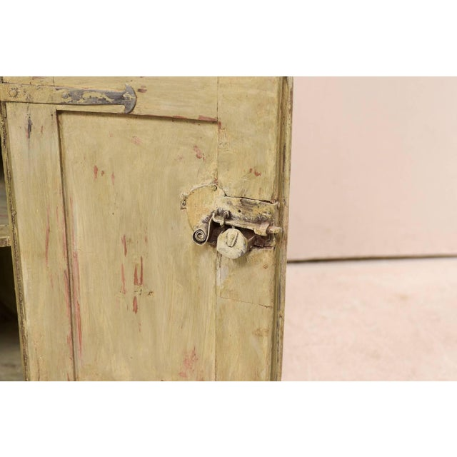 18th Century Antique Gustavian Swedish Painted Wood Corner Cabinet For Sale - Image 11 of 12