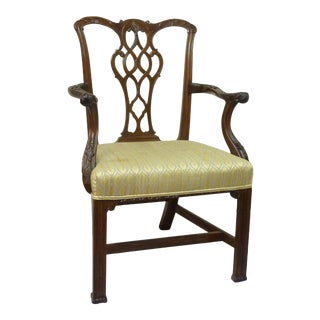 18th Century English Chippendale Armchair For Sale