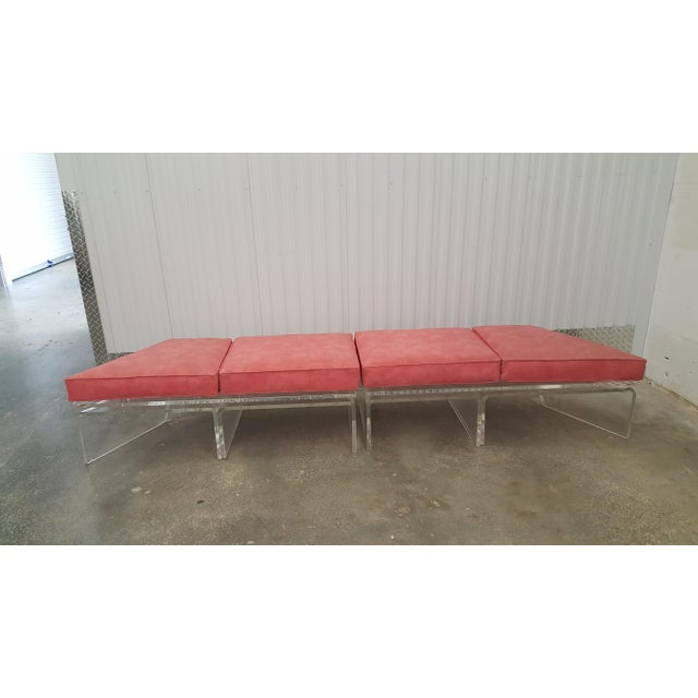 1970s Vintage Lucite Bench For Sale - Image 12 of 13