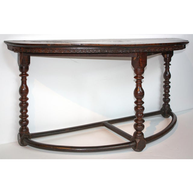 17th Century Large 17th c. Walnut Console Tables For Sale - Image 5 of 11