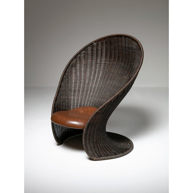 Brown Foglia Lounge Chair by Travasa for Bonacina For Sale - Image 8 of 8