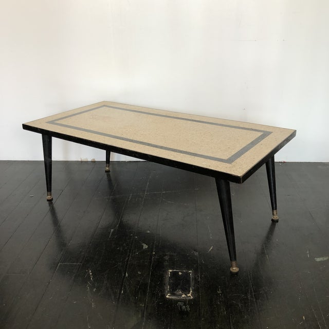 Mid-Century Modern 1950s Mid Century Modern Terrazzo Coffee Table For Sale - Image 3 of 5