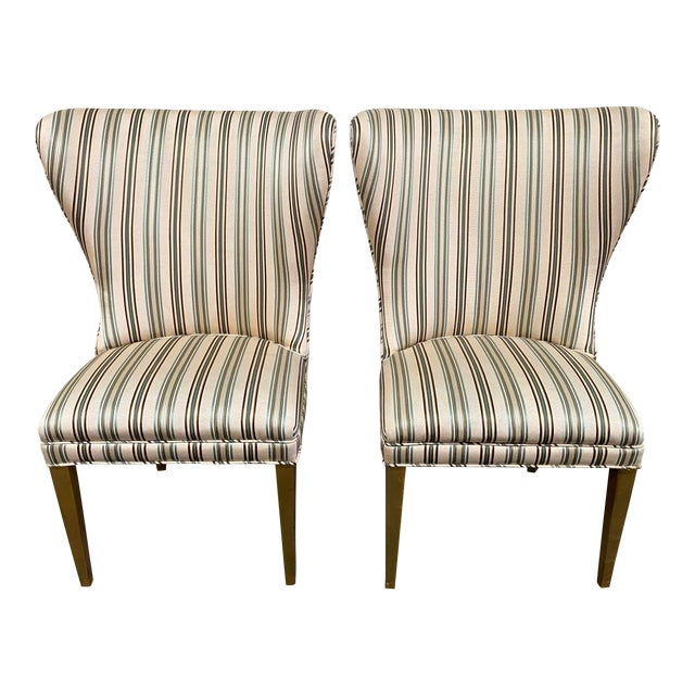 Late 20th Century Custom Design Side Chairs - a Pair For Sale