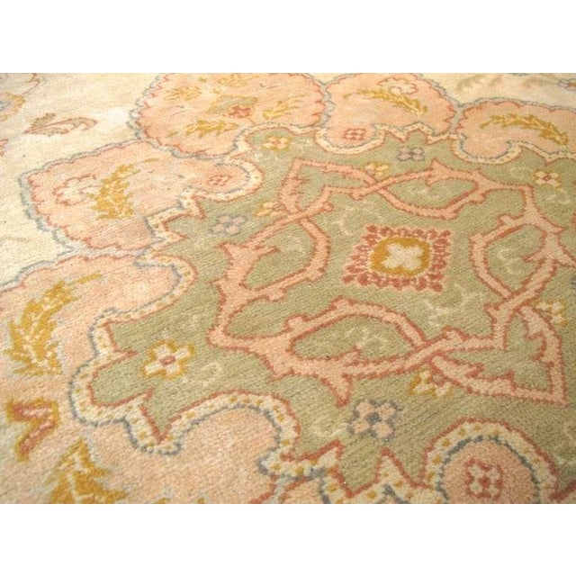 Oushak Carpet with Delicate Palette For Sale - Image 4 of 7