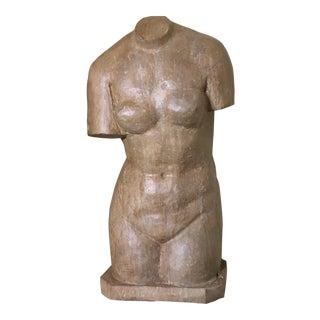 Vintage Marble Female Torso Statue
