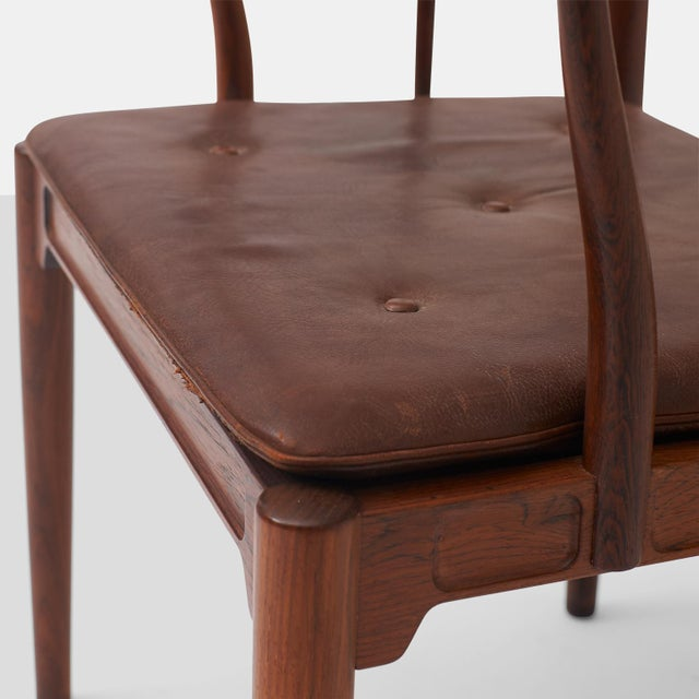 """Brown Pair of Rosewood """"China"""" Chairs by Hans J Wegner For Sale - Image 8 of 10"""