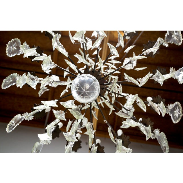 Early 20th Century Multi Crystal 15-Arm Birdcage Chandelier For Sale - Image 10 of 13