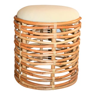 Boho Chic Rattan Circular Woven Stool (We Have Two)