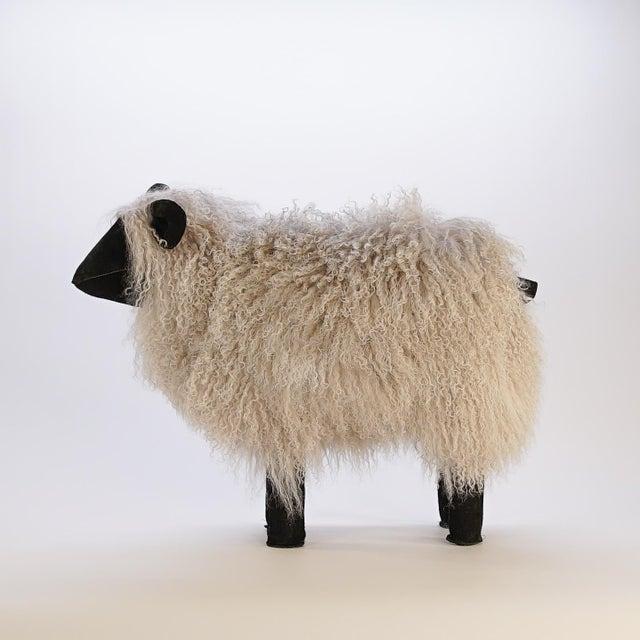 Tibetan Lamb sheep made from Tibetan Lamb fur