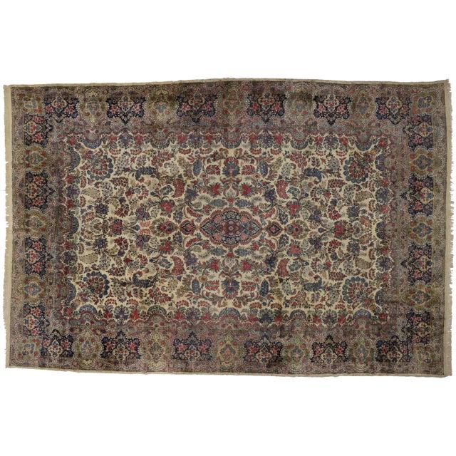 """Vintage Kerman Art Nouveau Style Rug --11'9"""" X 17'8"""" For Sale"""