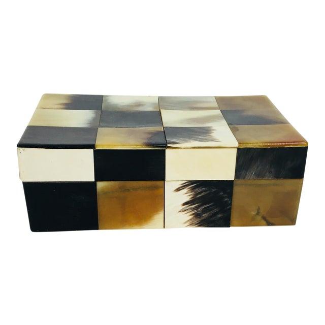 Contemporary Patchwork Bone Dresser Box For Sale