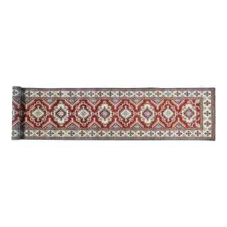 Hand-Knotted Red Kazak Runner- 2′9″ × 14′6″ For Sale