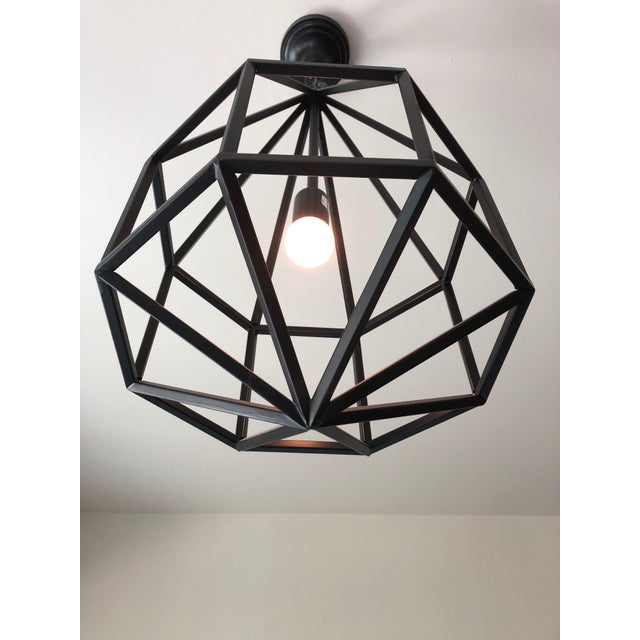 2010s Contemporary Black Teardrop-Shape Lanterns - a Pair For Sale - Image 5 of 9