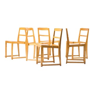 Sven Markelius, Set of Six Stacking Chairs For Sale