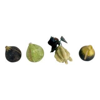 Mid-Century Italian Marble Fruit - Set of 4 For Sale