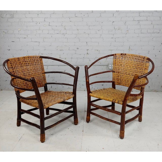 1920s Antique 1920s Bentwood Settee and Chairs -Salon - Set of 3 For Sale - Image 5 of 12