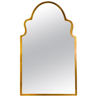 Moroccan Antiqued Gilt Mirror For Sale