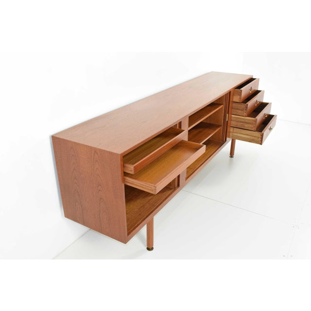 1960s Danish Teak Sideboard/Credenza, Jens Risom Attributed For Sale - Image 5 of 8