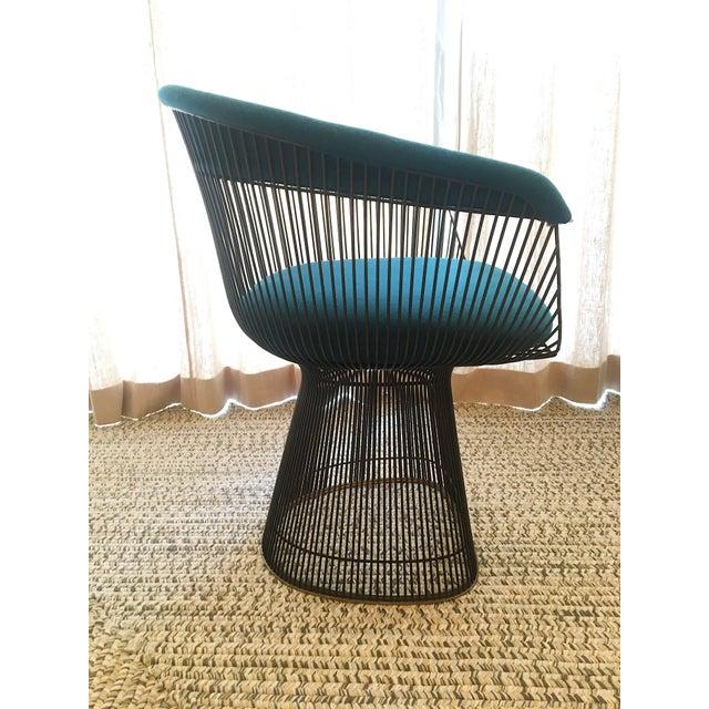 Blue Vintage Mid Century Warren Platner Teal Dining Chairs- Set of 8 For Sale - Image 8 of 12