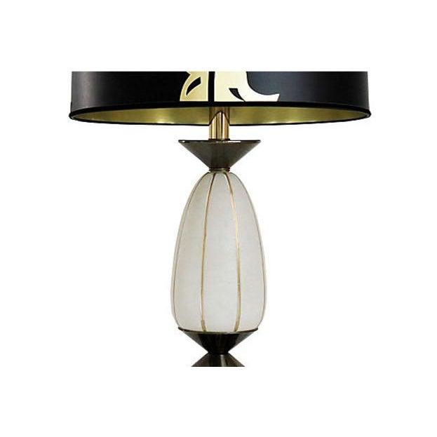 Hollywood regency glass lamp w shade chairish hollywood regency glass lamp w shade image 2 of 8 aloadofball Gallery