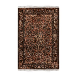 """Antique Sarouk Wool Persian Rug-4'10"""" X 6' 10"""" For Sale"""