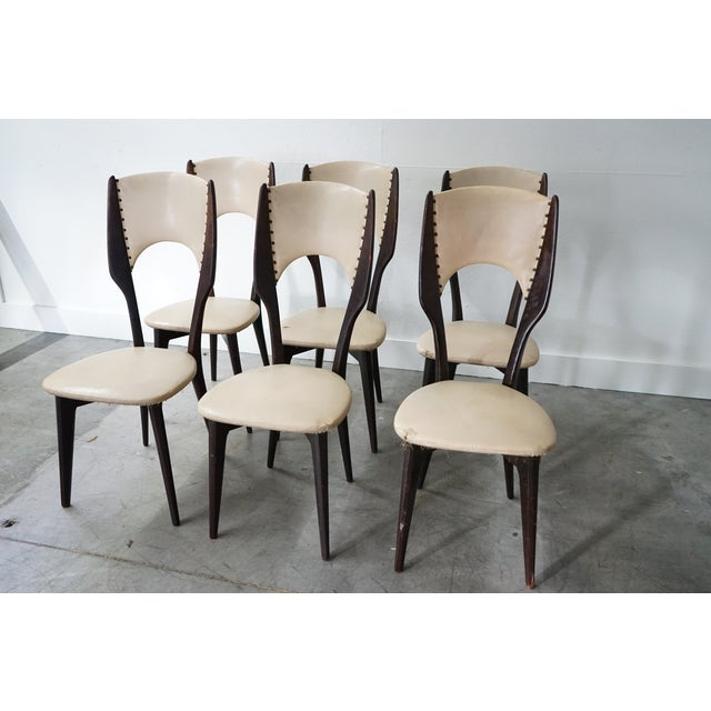 Vintage Italian Dining Chair by Designer Gio Ponti, Sold as a Set For Sale In Nashville - Image 6 of 9