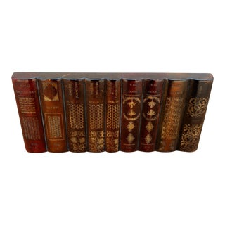 Maitland-Smith Leather Books Factice For Sale
