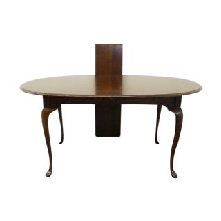 20th Century Queen Anne American Drew Cherry Dining Table For Sale