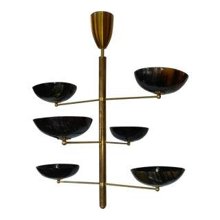 Brass & Horn Hanging Light