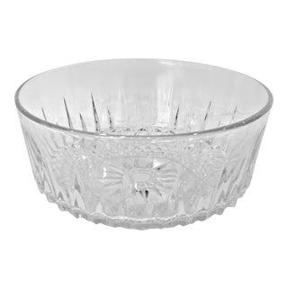 Vintage Diamant Crystal Serving Bowl by Cristal d'Arques-Durand, France For Sale