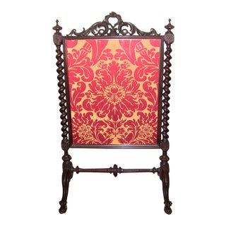 Mid 19c American Rococco Revival Fire Screen For Sale
