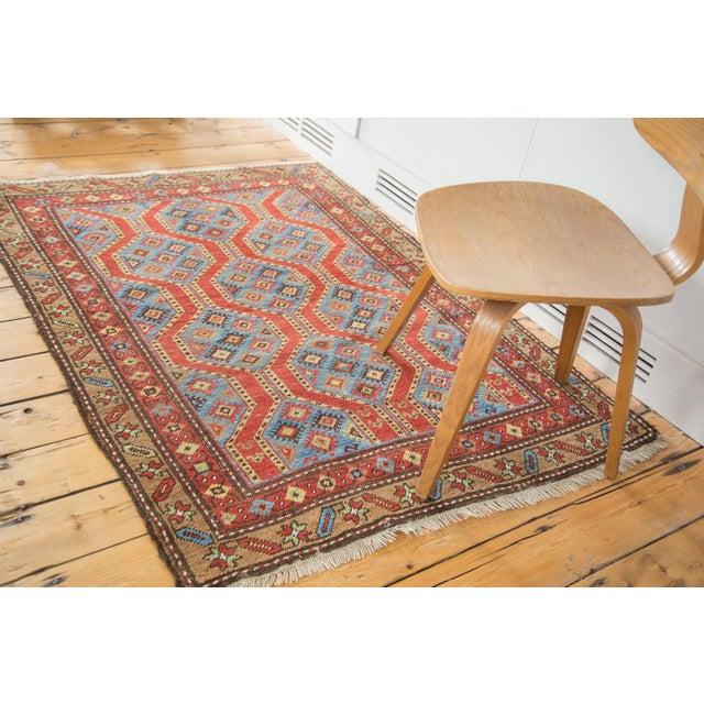 "Vintage Northwest Persian Square Rug - 3'9"" X 5'2"" - Image 4 of 7"