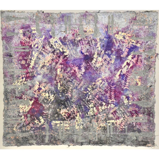 Purple Abstract Modern Art For Sale - Image 9 of 10