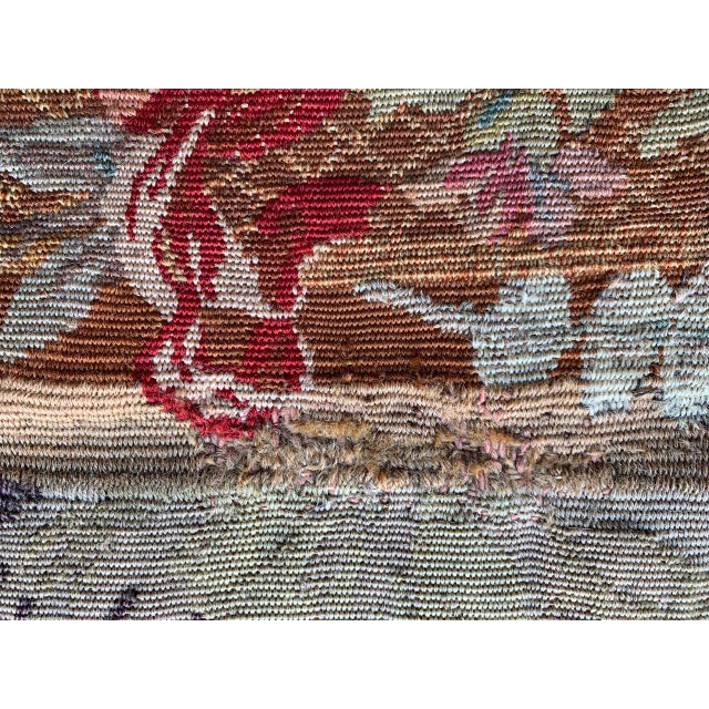 Textile Late 19th Century French Des Bois Tapestry- 6 X 6' For Sale - Image 7 of 13