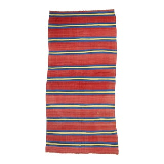 Modern Vintage Berber Moroccan Kilim Rug with Stripes For Sale