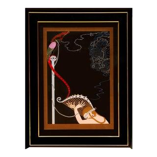 "1980s Erté, ""Enchanted Melody"", Art Deco Screenprint For Sale"