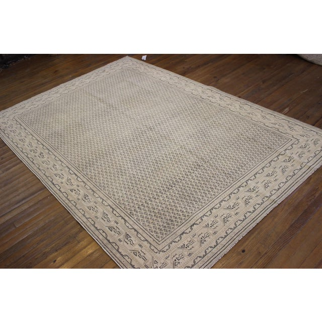 Tan Vintage Hand-Woven Overdyed Rug - 6′2″ × 9′2″ - Image 9 of 9