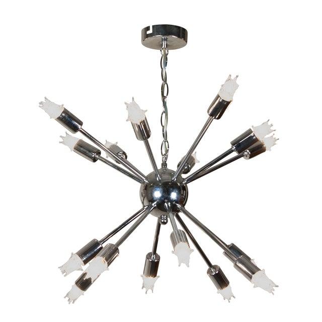 1960s Chrome Sputnik Chandelier - Image 2 of 5