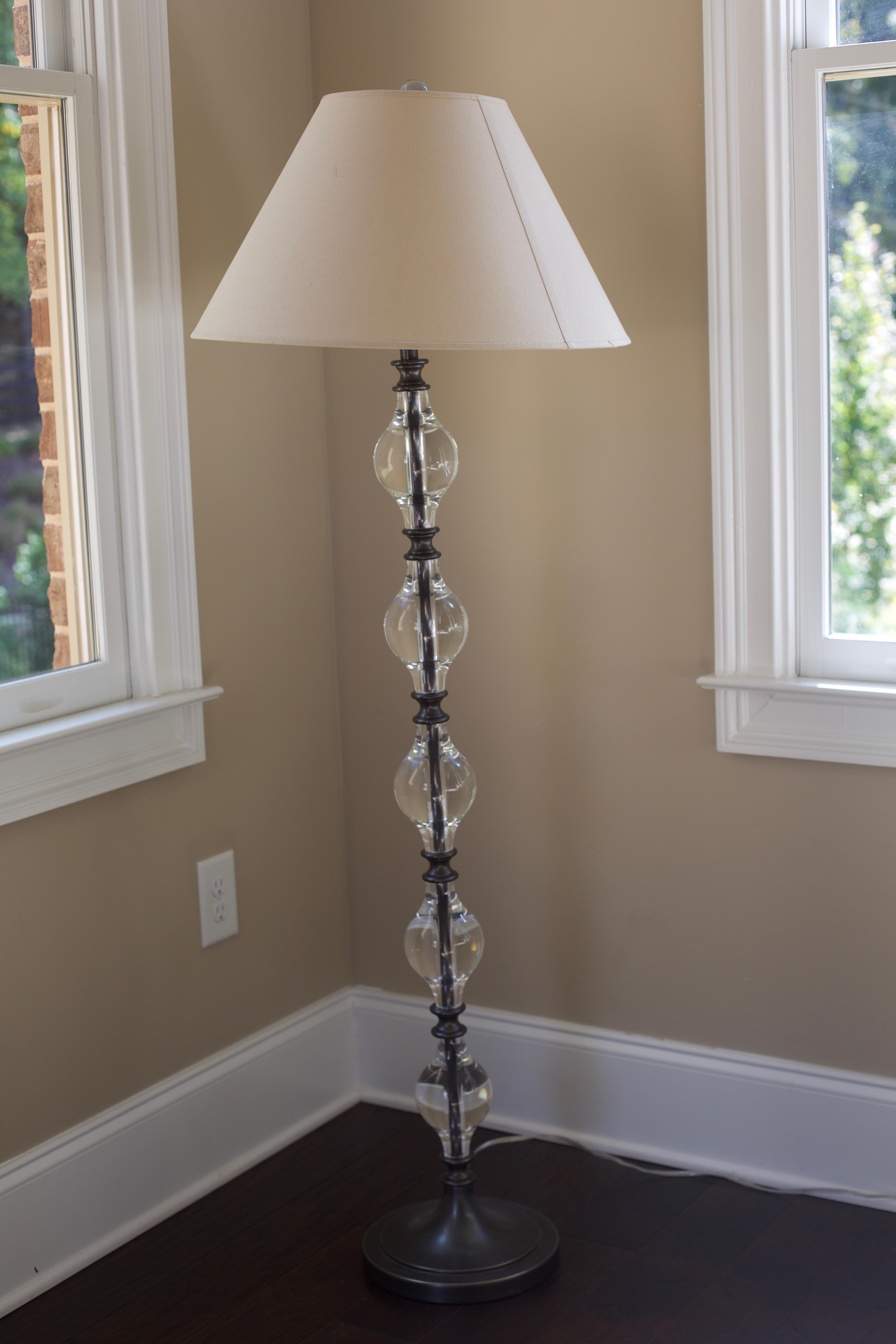 Pottery Barn Marston Crystal Floor Lamp   Image 2 Of 4