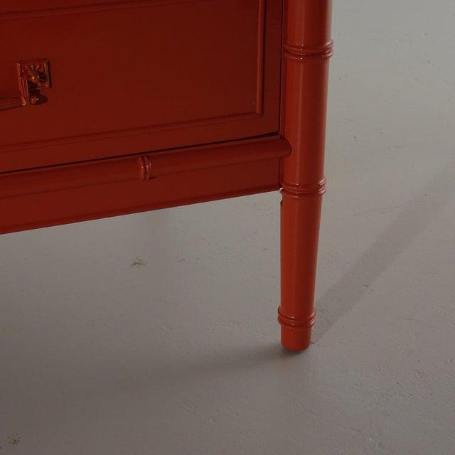 Henry Link Henry Link Bali Hai Dresser Lacquered Fiery Orange For Sale - Image 4 of 6