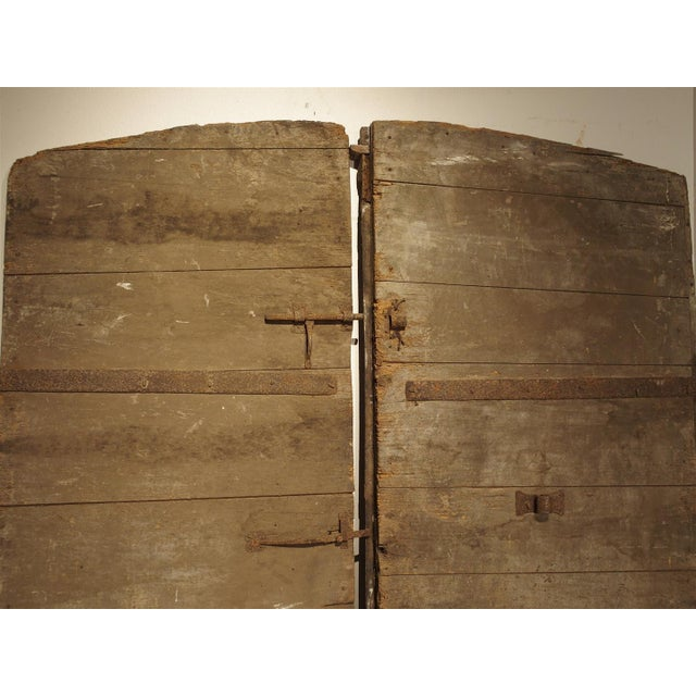 Pair of Antique French Oak Doors from Burgundy, 1700s For Sale - Image 11 of - World-Class Pair Of Antique French Oak Doors From Burgundy, 1700s
