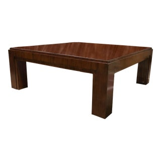 Ralph Lauren Square Mahogany Cocktail Table For Sale