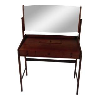 1960s Svend Aage Madsen Danish Teak Vanity Table, Dressing Table