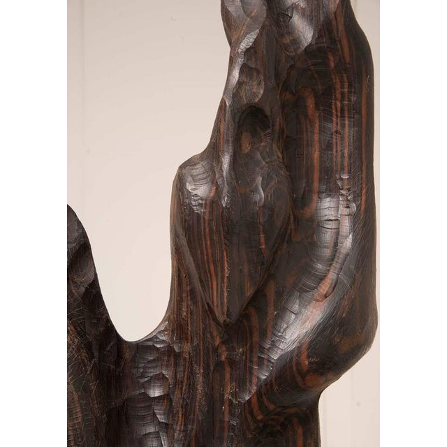 1950s Monumental 1960s Macassar Ebony Sculpture For Sale - Image 5 of 12
