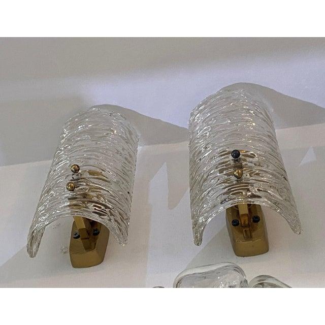 Mid-Century Modern Mid-Century Modern Kalmar Glass Sconces - a Pair For Sale - Image 3 of 9